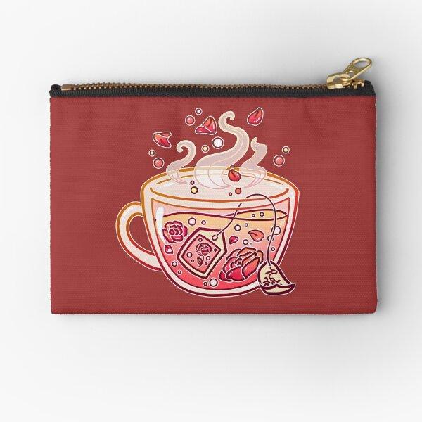 Sweet Rose Tea Zipper Pouch