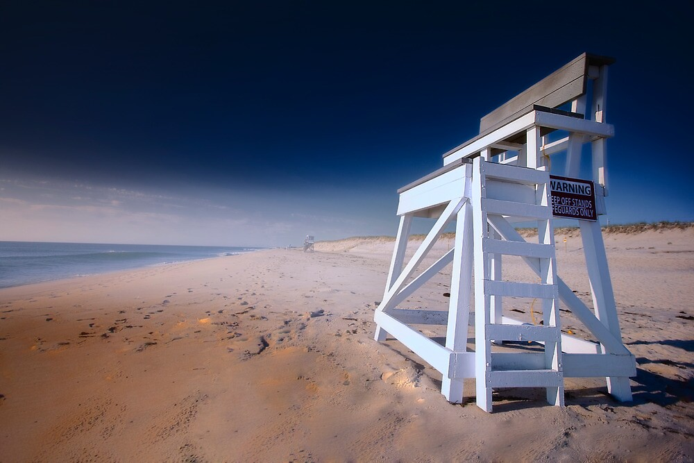Nauset Beach, Cape Cod - Lifeguard Chair by Artist Dapixara