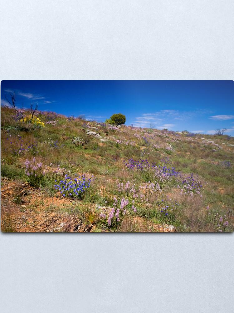 Alternate view of Hill of Flowers Metal Print