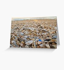 Blue Seaglass Greeting Card