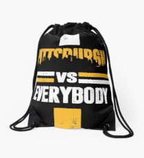 Pittsburgh sports fans football Drawstring Bag