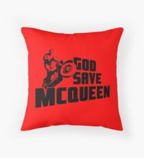 God Save McQueen Throw Pillow
