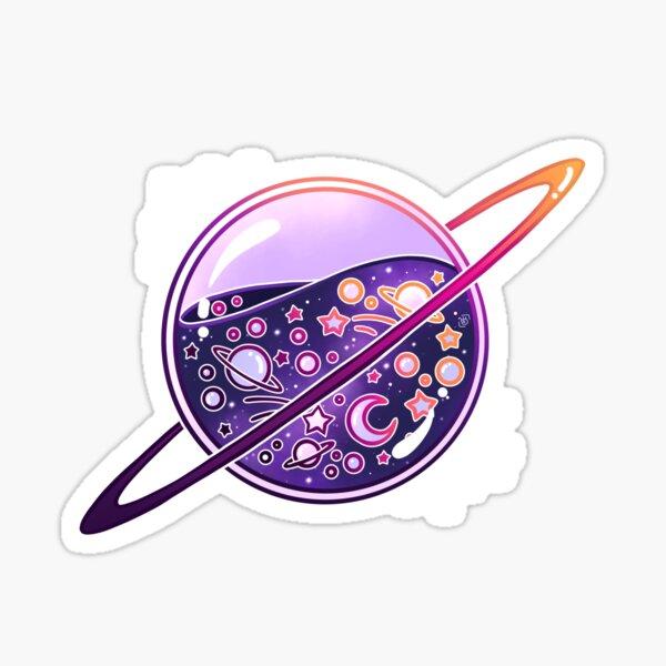 Planète remplie de galaxie Sticker