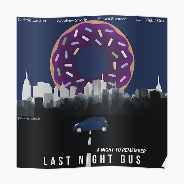 Psych: Last Night Gus. Poster