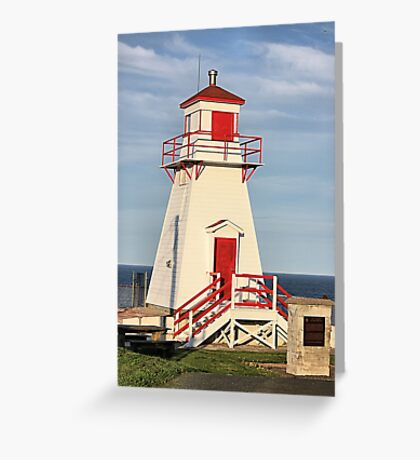 Fort Amherst Lighthouse Greeting Card
