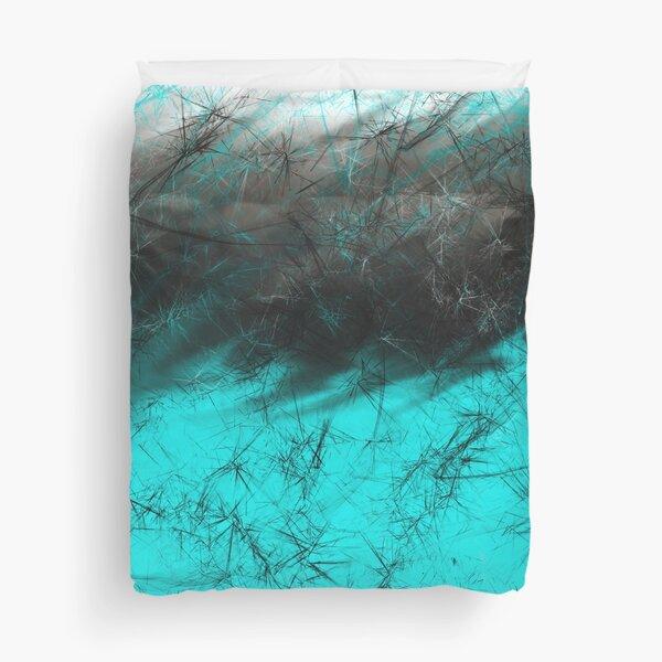 Aqua  Galaxy  Duvet Cover