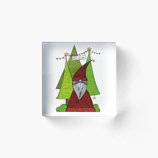 Christmas Kabouter/ Dutch Gnome Acrylic Block
