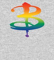 Rainbow Pride B Logo - Buffy Kids Pullover Hoodie