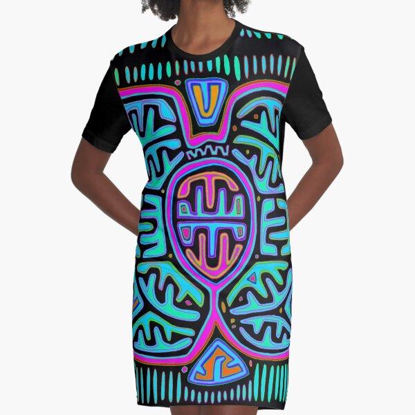 Kuna Mariposa Butterfly Graphic T-Shirt Dress