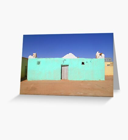 Beautiful Algeria - Turquoise Building Greeting Card