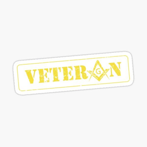 Freemason Military Veteran Square & Compass Masonic Sticker