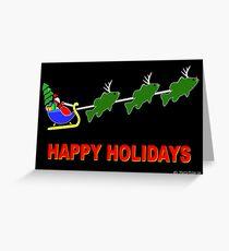 "Santa & his ""BassDeer"" - Blank Greeting Card Greeting Card"