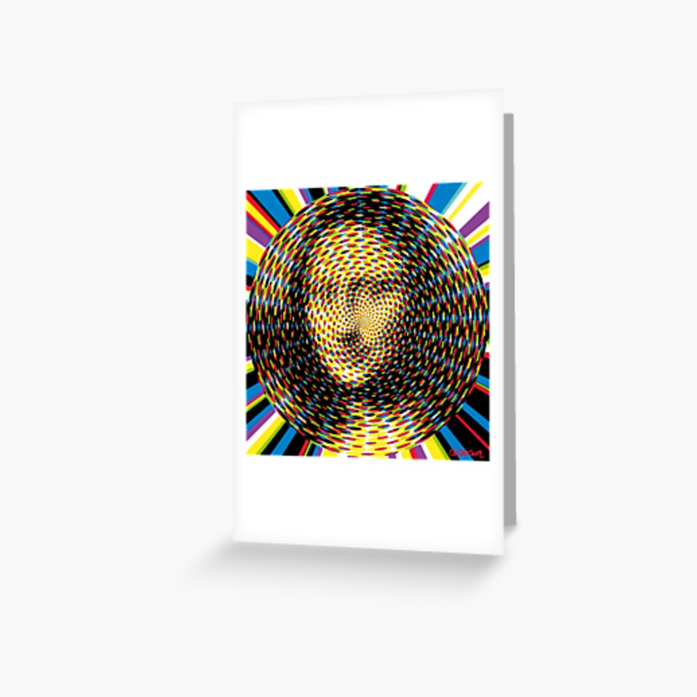 Psychedelic Mona Lisa Greeting Card