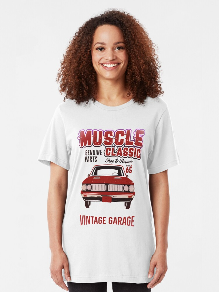 Alternate view of Classic Car Repair Slim Fit T-Shirt