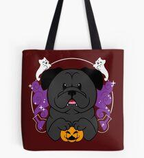 Licorice the Black Pug Tote Bag