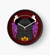 Licorice the Black Pug Clock