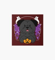 Licorice the Black Pug Art Board Print