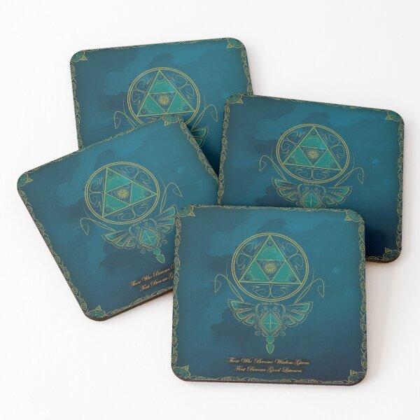 ~Blue Wisdom~ Coasters (Set of 4)