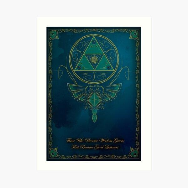 ~Blue Wisdom~ Art Print