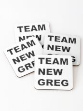 Team New Greg Crazy Ex Girlfriend Fan art  Coasters