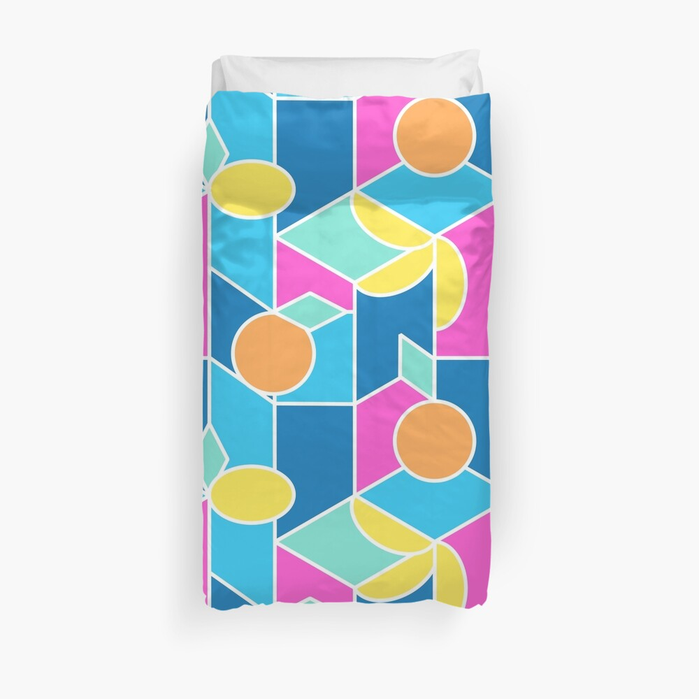 Color-Blocking Fruits Duvet Cover
