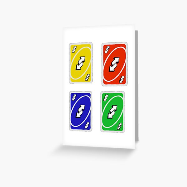 Uno Reverse Cards Greeting Card