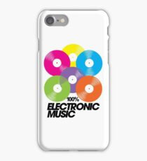 100% Electronic Music iPhone Case/Skin