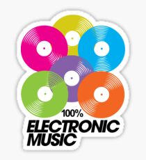 100% Electronic Music Sticker