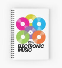 100% Electronic Music Spiral Notebook