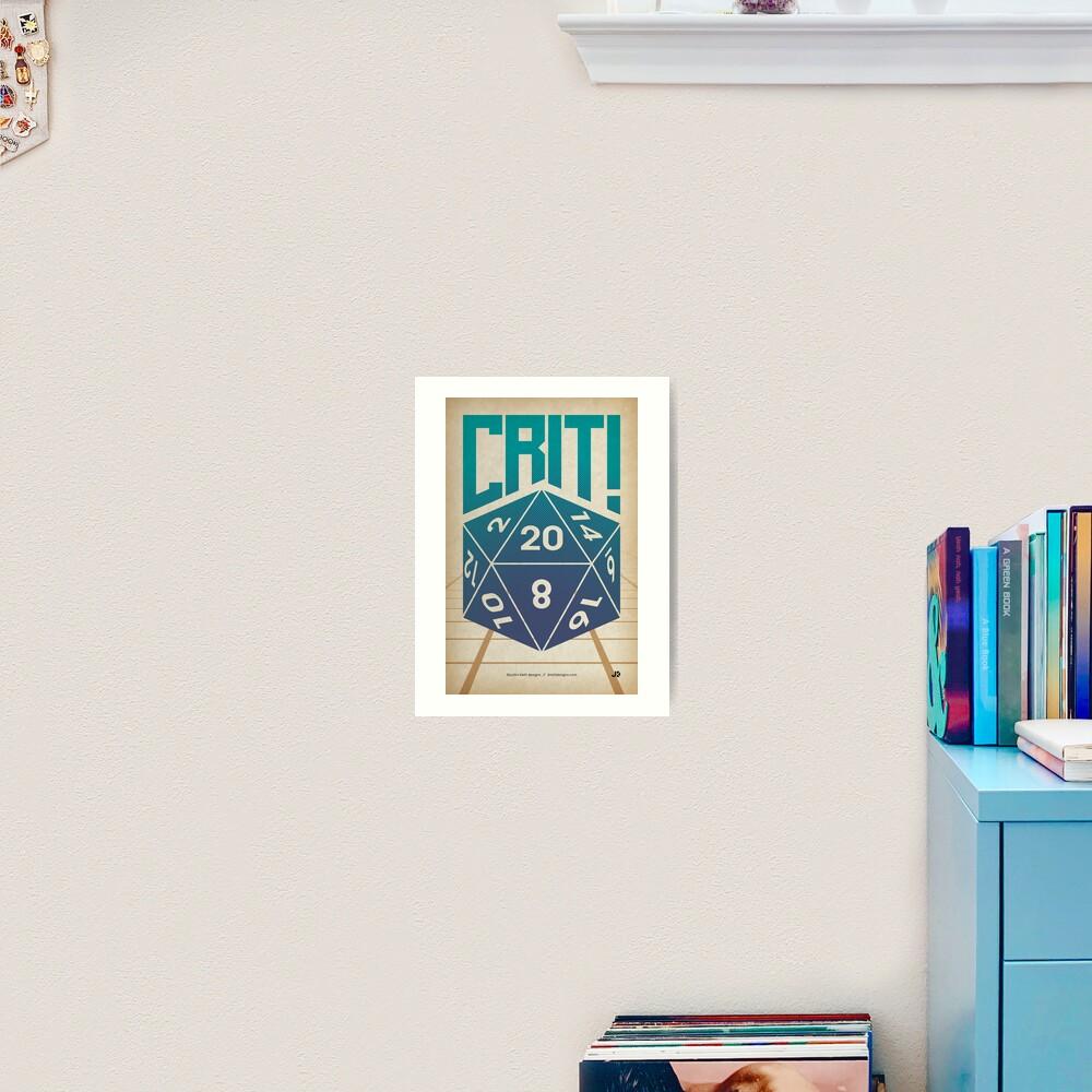 Crit Success - Blue Art Print
