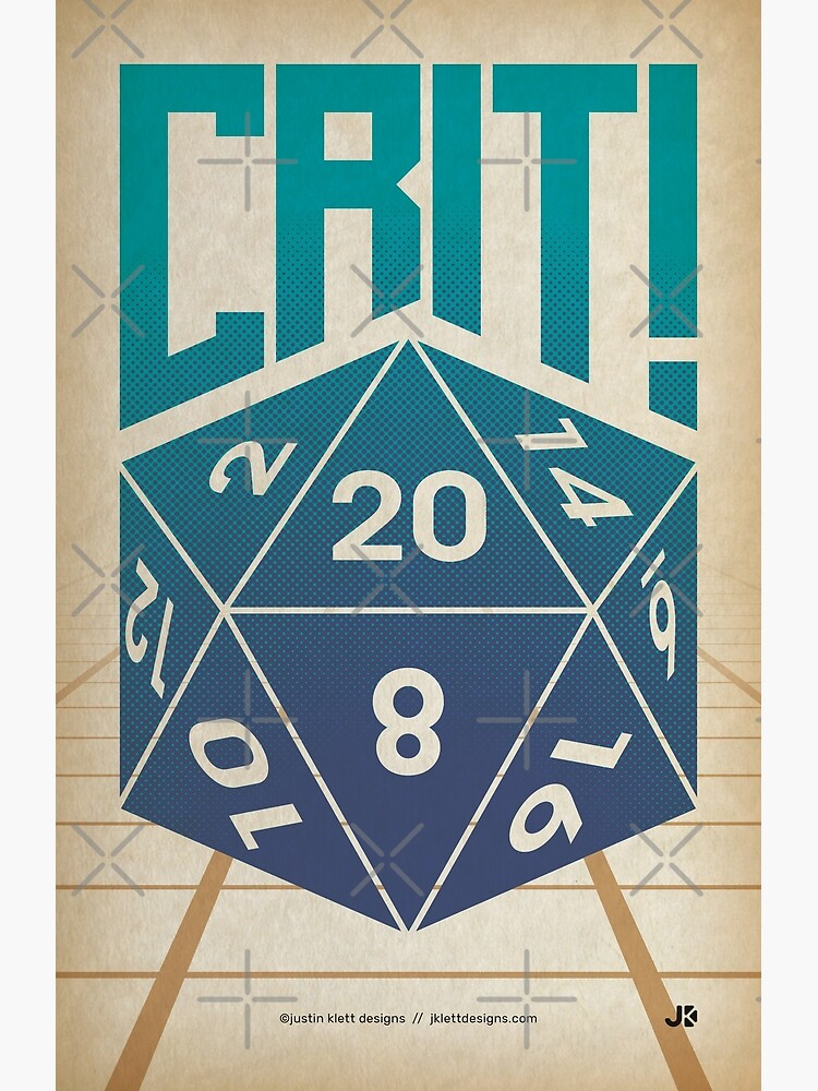 Crit Success - Blue by jklettdesigns