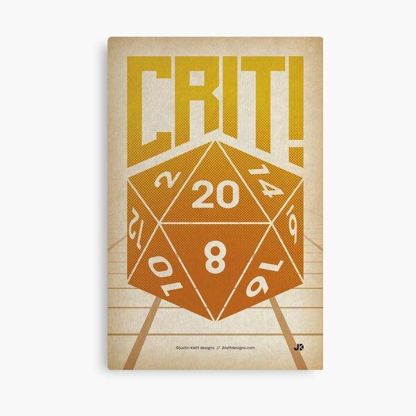 Crit Success - Yellow Canvas Print