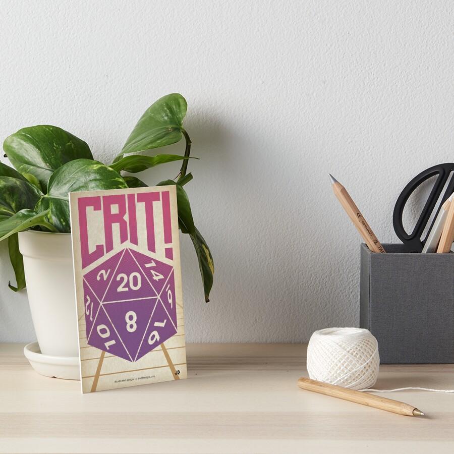 Crit Success - Pink Art Board Print