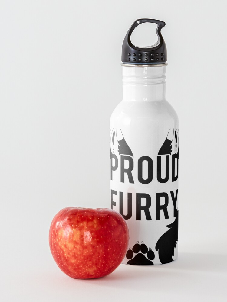 Alternate view of PROUD FURRY  -clear tips- Water Bottle