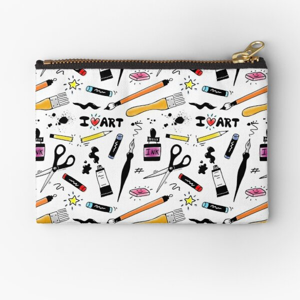 I Love Art Supplies Zipper Pouch