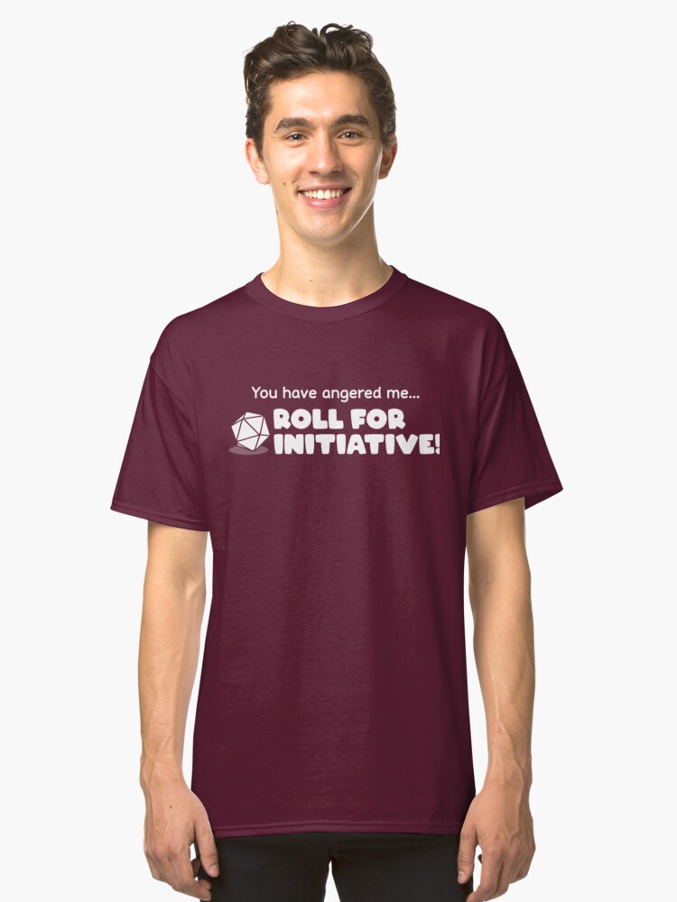 Alternate view of Roll for Initiative Classic T-Shirt