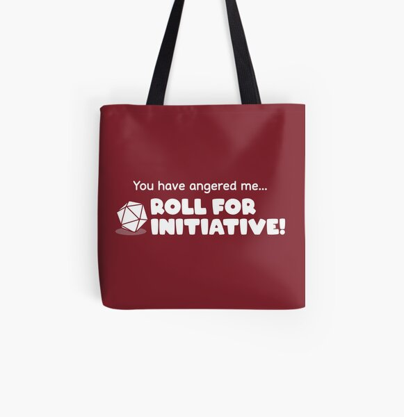 Roll for Initiative All Over Print Tote Bag
