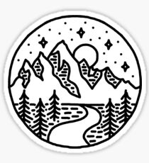 Midnight Mountains Sticker