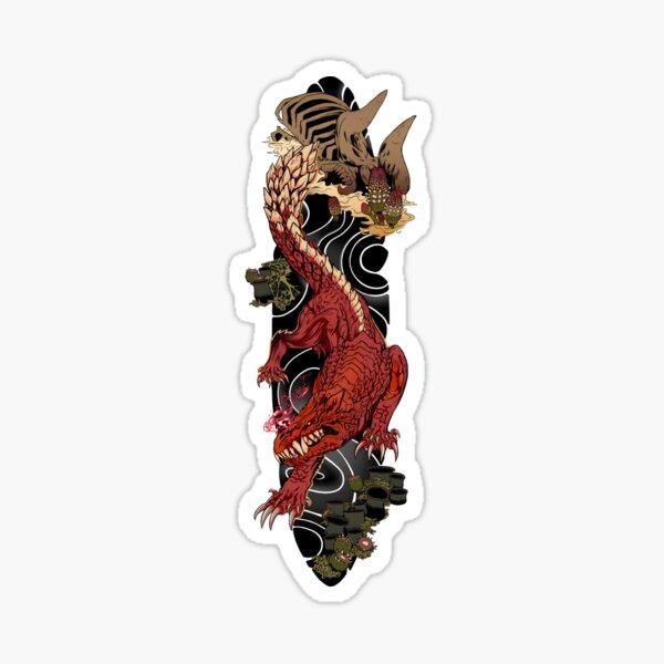 Odogaron Japanese Sleeve Tattoo Sticker