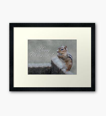 Chippy Christmas Framed Print