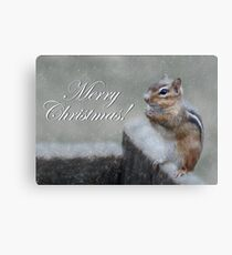 Chippy Christmas Canvas Print