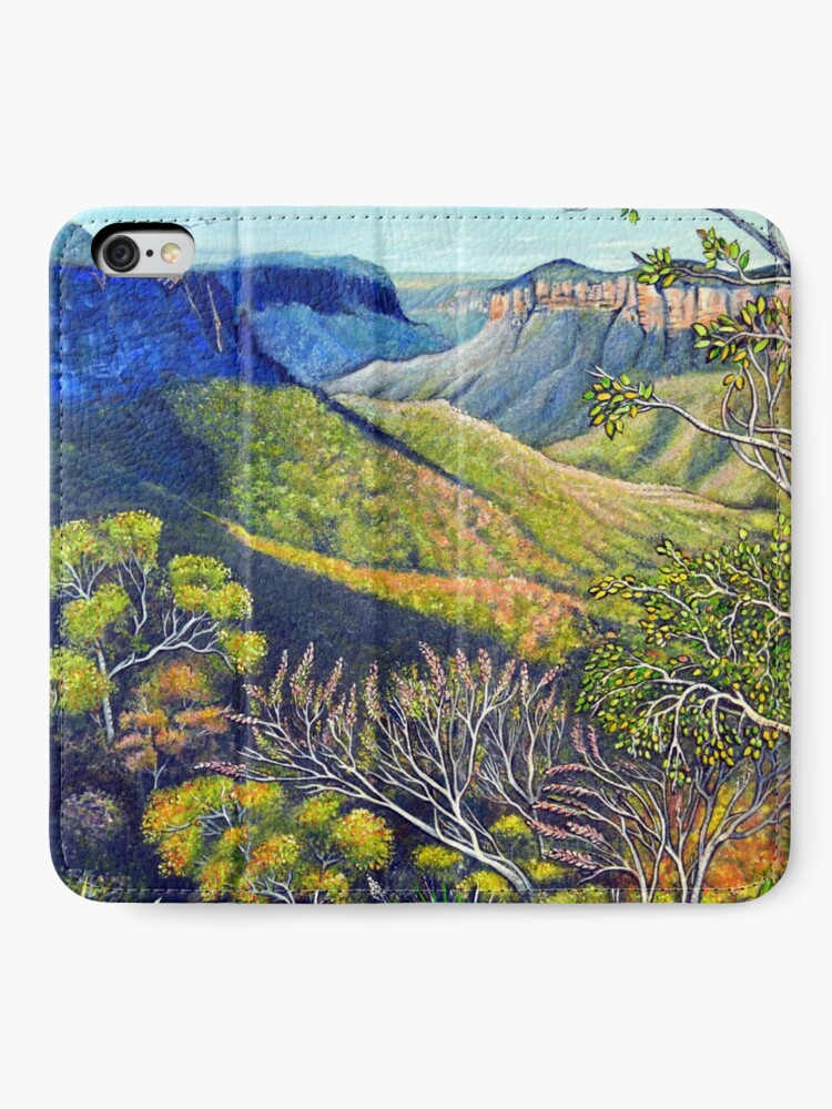 Alternate view of Govetts Leap Lookout, Blue Mountains iPhone Wallet