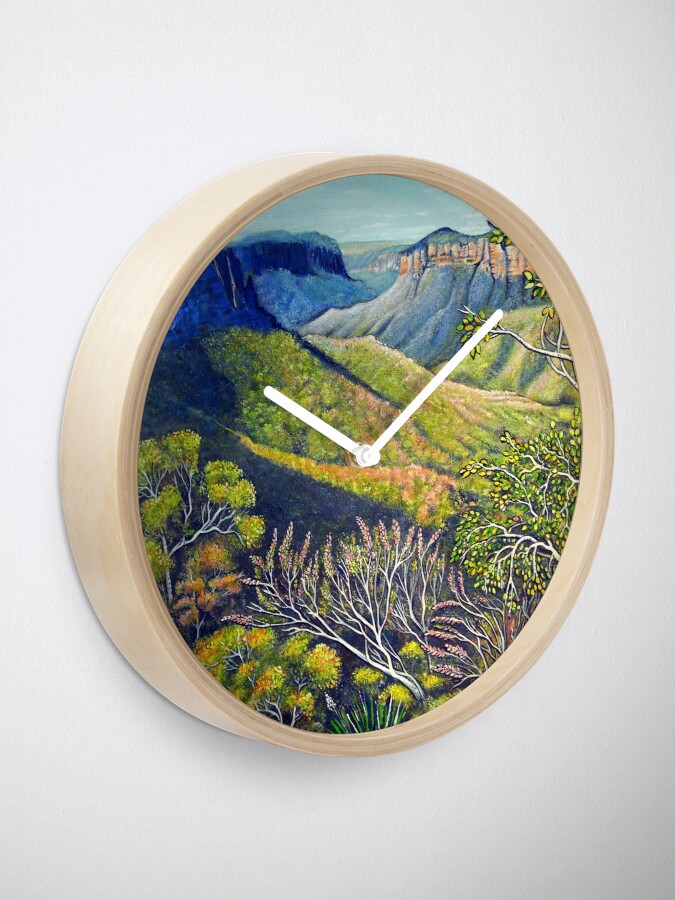 Alternate view of Govetts Leap Lookout, Blue Mountains Clock