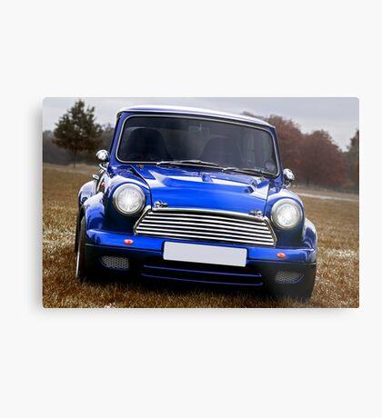 The original Mini true Brit in blue Metal Print