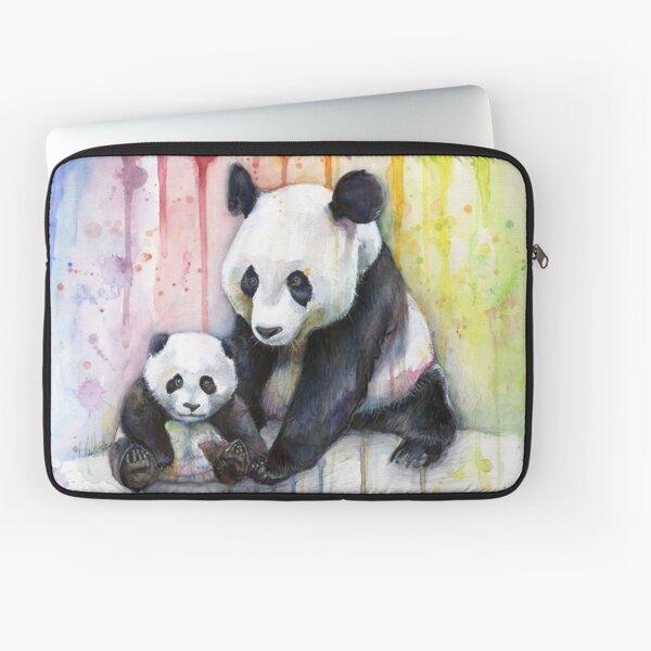Pandas in the Rainbow Laptop Sleeve