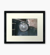 Headlight retro car Framed Print