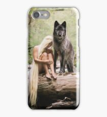 A Wolf and His Girl iPhone Case/Skin