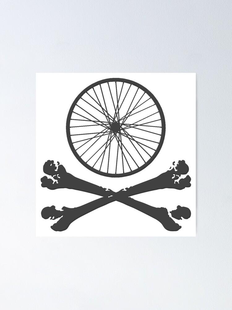 Bike gift Tshirt Mountain mtb Cycling skull t-shirt Bicycle downhill bmx NEW