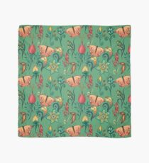 Floral green pattern with butterflies Scarf