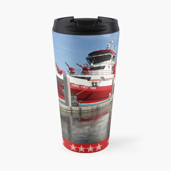 343 ~ FDNY's New Fireboat on Route to New York  Travel Mug